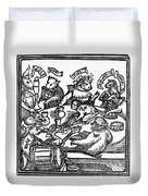 Drinking Party, 1516 Duvet Cover