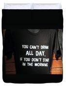 Drinking Tee Shirt Art Duvet Cover