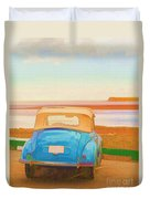 Drive To The Shore Duvet Cover