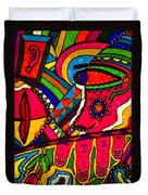 Driven To Abstraction - Parts And Pieces Duvet Cover