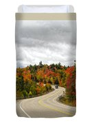 Driving Through Algonquin Park In Fall Duvet Cover