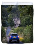 Driving To Manor House Duvet Cover