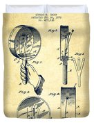 Droop Hand  Drum Patent Drawing From 1892 - Vintage Duvet Cover