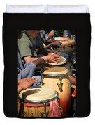 Drum Jammin In Golden Gate Park Duvet Cover