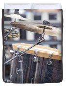 Drum Kit Set Closeup Duvet Cover
