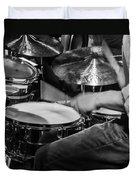 Drummer At Work Duvet Cover