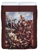 Drummer W. Ritchie Standing Duvet Cover