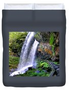Dry Falls 2 In Western North Carolina Duvet Cover