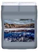 Dry Lagoon Blues Duvet Cover