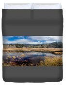 Dry Lagoon In Winter Panorama Duvet Cover