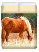 Dry Marsh Grasses Duvet Cover