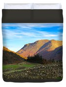 Dry Stone Walls In Patterdale In The Lake District Duvet Cover