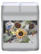 Dry Sunflowers Duvet Cover