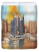 Dubai Marina Complex Duvet Cover