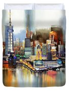 Dubai Skyline  Duvet Cover