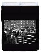 Dublin Cattle Market 1959 Duvet Cover