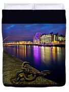 Dublin Docklands At Night / Dublin Duvet Cover