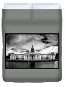 Dublin - The Custom House - Bw Duvet Cover