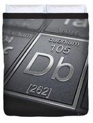 Dubnium Chemical Element Duvet Cover