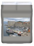 Dubrovnik Old Harbour Duvet Cover