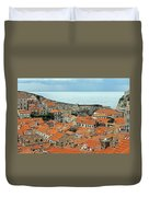 Dubrovnik Rooftops And Walls Duvet Cover