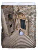 Dubrovnik Wedding Portrait Duvet Cover
