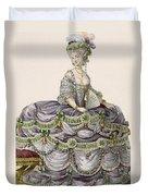 Duchess Evening Gown, Engraved Duvet Cover
