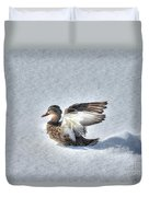Duck Angel Duvet Cover