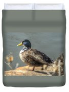 Duck By Pond Duvet Cover