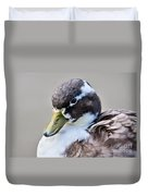 Duck Portrait Duvet Cover