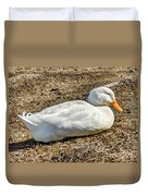 Duck Taking A Nap Duvet Cover