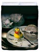 Duck The Hour Duvet Cover