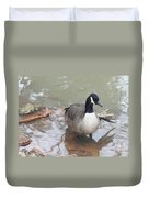 Duck Wading In A Stream Duvet Cover