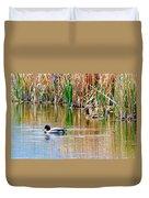 Ducks In A Marsh Duvet Cover