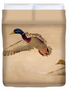Ducks In Flight Duvet Cover