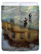 Ducks Of Isola Madre.italy Duvet Cover