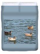Ducks On Spaulding Pond Duvet Cover