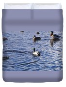Ducks Swimming  Duvet Cover