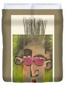 Dude With Pink Sunglasses Duvet Cover