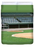 Dugout At The Old Ballpark Duvet Cover