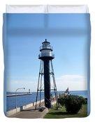 Duluth Mn Lighthouses  Duvet Cover