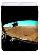 Dune Bashing In The Empty Quarter Duvet Cover