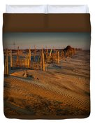 Dune Erosion Fence Outer Banks Nc Img3748 Duvet Cover