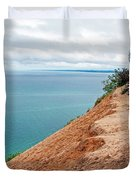 Dune Over Lake Michigan At Pyramid Point In Sleeping Bear Dunes National Lakeshore-michigan Duvet Cover
