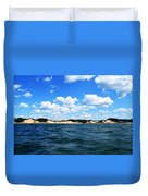 Dunes And Lake Michigan Duvet Cover by Michelle Calkins