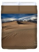 Dunes Ripples And Clouds Duvet Cover