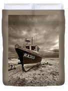 Dungeness Boat Under Stormy Skies Duvet Cover