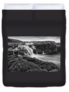 Dunseverick Waterfall Duvet Cover