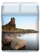 Dunure Castle Duvet Cover