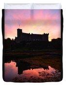Dunvegan Castle At Dawn Duvet Cover